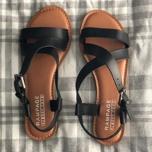 Black Rampage Sandals NWOT